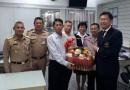 อุปนายกฯ นำคณะกรรมการบริหารและเจ้าหน้าที่สมาคมฯ มอบกระเช้าผลไม้ นายกสมาคมกีฬาปัญจกีฬาแห่งประเทศไทย