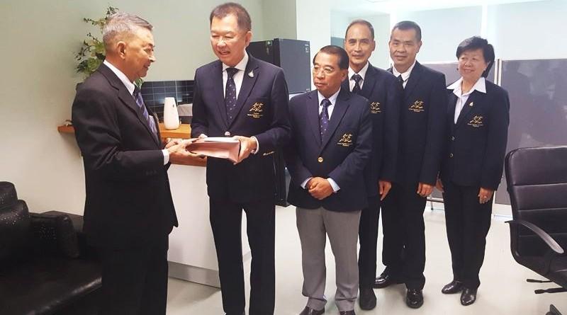 นายกสมาคมกีฬาปัญจกีฬาแห่งประเทศไทยพร้อมด้วยคณะกรรมการบริการ เข้าพบ นายกสมาคมกีฬาฟันดาบแห่งประเทศไทย เพื่อขอบคุณและอวยพรเนื่องในเทศกาลวันขึ้นปีใหม่ ปี 2563