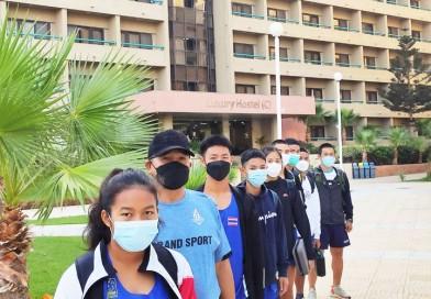 นักกีฬาปัญจกีฬาจากทีมประเทศไทย หลังจากเดินทางถึงที่พักเรียบร้อย ก็ทำการฝึกซ้อมทันที